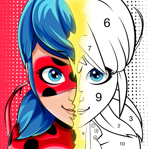 Miraculous Ladybug Cat Noir. Color by number 1.1.1 APKModDownload for android