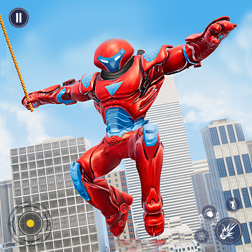 Flying Police Monster Robot Rope Hero Crime City APK Mod Download for android