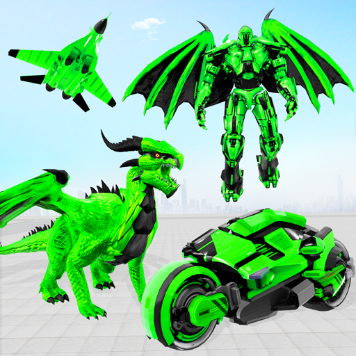 Flying Dragon Transport Truck Transform Robot Game APK Mod Download for android