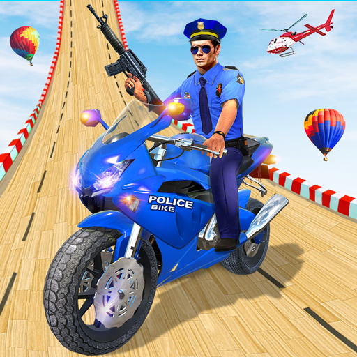 Police Bike Stunt GT Race Game APK Mod Download for android